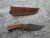 "CFK DAMASCUS MAHOGANY HANDLE - 3.5"" BLADE - WITH SHEATH - MUST BE 18 TO ORDER"